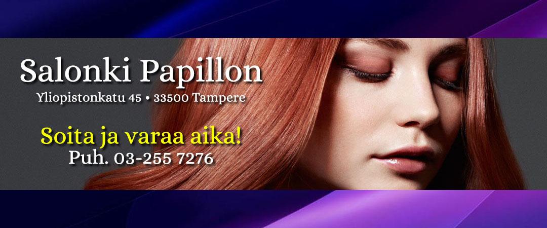 Salonki Papillon - parturi-kampaamo Tampere • Tammela